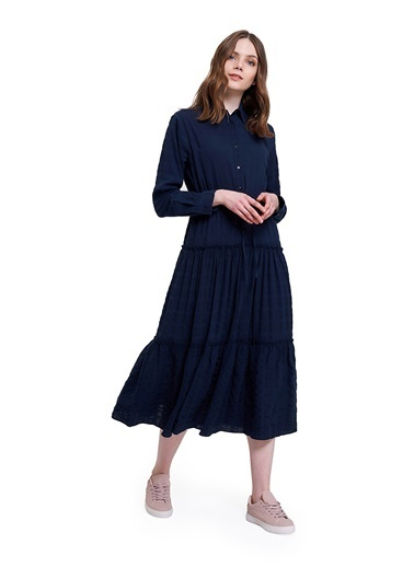 Mizalle Youth Elbise Lacivert